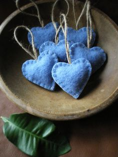 felted wool hearts - fill with lavender?