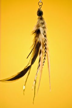 feather hair clip extensions , CUTE .