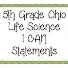 YES THESE ARE ALIGNED TO OUR NEWEST STANDARDS! Help your students with Ohio Science Standards! These posters cover 5th grade Life Science.  These I...