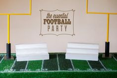Football Party Set  Table Cover Cupcake Stands by HelloMySweet, $215.00