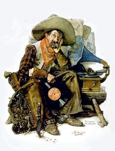 long ago, cowboy art, dreams, norman rockwell, artnorman rockwel, rockwel dream, ago 1927