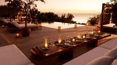 Sunset dining at Parrot Cay Resort - Turks & Caicos Islands