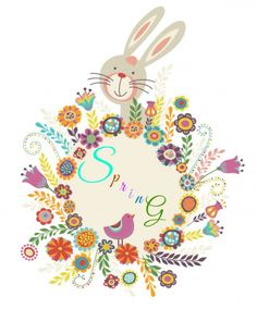 Free Spring Wreath Printable