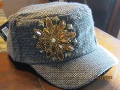 Cadet/Military Twill Bling Hat for Women by BrewBlinghats on Etsy, $35.00