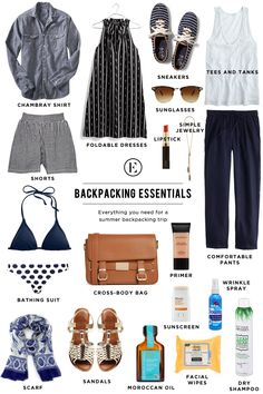 The Ultimate Packing Guide for Backpacking Abroad #theeverygirl