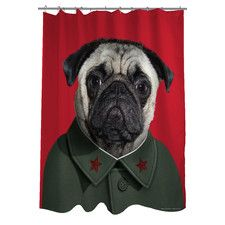 Pets Rock China Polyester Shower Curtain
