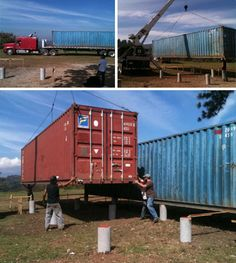 cargo container home building
