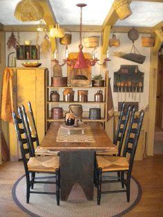 Dining Room in mustard