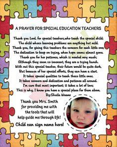A prayer for special education teachers