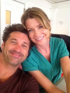 Patrick Dempsey and Ellen Pompeo on Grey's Anatomy Season 9