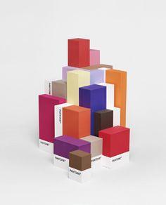 Pantone Cubes colour, graphic design, seri, packag, base design, color, art, poster, pantone