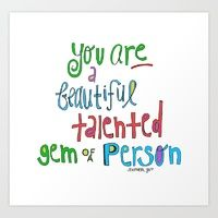"""'you are a beautiful, talented GEM of a person!"""" Cherry Runway   Society6"""