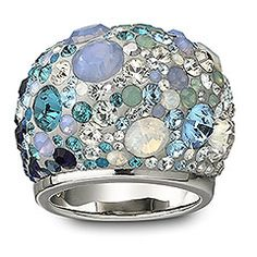 Chic Multi Blue Ring by Swarovski.