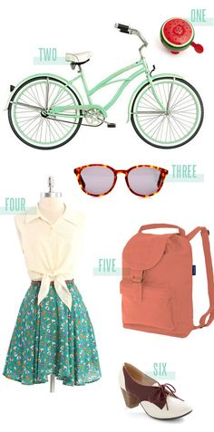 A perfect vintage summer outfit.