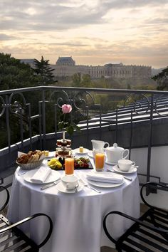 Terrace at the Trianon Palace Versailles Hotel, France