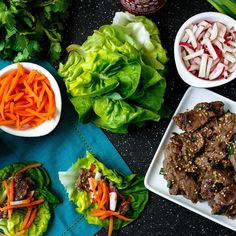 Asian Steak Lettuce Wraps. A perfect healthy appetizer for entertaining. No fork required.