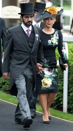 Sheikh Mohammed and Princess Haya Bint Al Hussein of Jordan, Sheikha of Dubai, June 18, 2013 | The Royal Hats Blog
