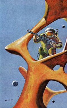 Retro-Futuristic, Sci-Fi, Space Fiction by Adkins, 1969