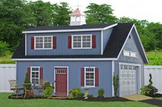 Add a two-story modular car garage to your property. It not only enhances the value, it will greatly increase storage space. This two story garage from Pennsylvania can be delivered to NJ, NJ, CT, DE, MD, VA and beyond. Visit http://www.shedsunlimited.net/two-story-sheds-garages.html