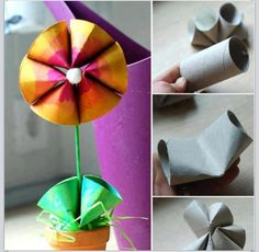 Mothers Day craft for kids from toilet paper rolls