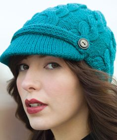 knitted hat w/ pattern