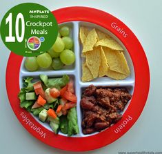 #myplate inspired crockpot meals from Super Healthy Kids #healthykids