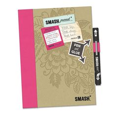 K and Company - SMASH Collection - Journal Book - Pretty Style Folio at Scrapbook.com $12.99 pink smash, books, journals, stuff, book 1429, journal smash, scrapbook idea, smash bookjourn, journal book