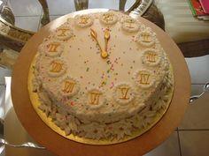 New Year's Eve cake.
