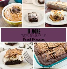 The ever popular now has a twin, 15 MORE ways to jazz up boxed brownies. Take your boxed brownie mix to the next lever with these easy tips and tricks and additions to make a dessert your whole family will love!