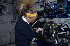 Replacing ignitors and fuel reservoirs for studies of combustion science in microgravity.  KN from space.