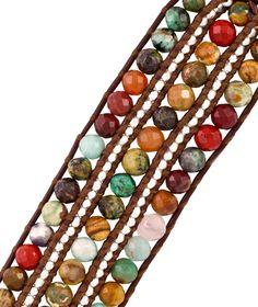 bead idea, bijoux cuir, pulsera alambr, jewelri art