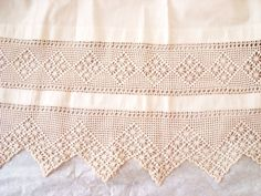 crochet lace insert and border