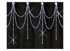 Shower+Curtain+Bling...Double+Swag+w+Short+by+ShowerCurtainBling