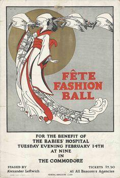 Fete Fashion Ball poster | c. 1917