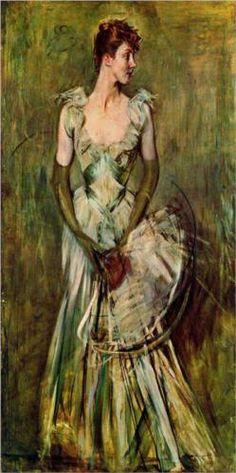 Portrait of Countess de Leusse - Giovanni Boldini