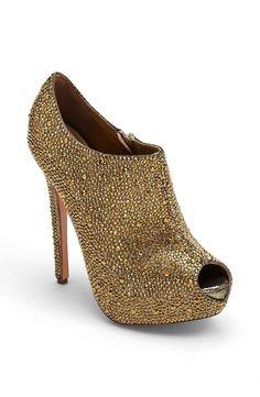 Gold glitter bootie!