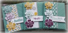 Stampin' Up! Flower shop, petite petals, moonlight dsp, 2014-16 In Colors www.midmostamping.com