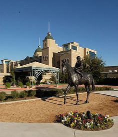 My bronze in front of #LoneStarPark in #GrandPrairie, #Texas | #GPTexas