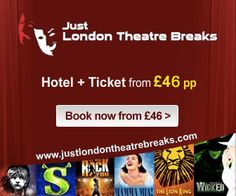 Just London Theatre Breaks offers the best seats for London musicals and a wide selection of central London hotels. Book online in three easy steps: 1.Choose a show and your seats. 2. Choose hotel and the dates of stay. 3.Pay without credit card fees. You get a booking voucher by email: easy to print, no need to wait for postal delivery. concerts, foods, london hotel, dates, seat, book hotel, books online, central london, credit cards