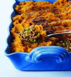 Turkey Shepherd's pie with sweet potato topping--delish although made personal tweaks