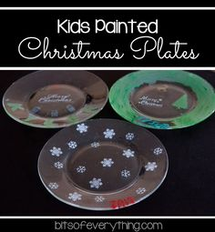 Kids Painted Christmas Plates - fun holiday DIY using Martha Stewart Crafts - click thru for the full tutorial