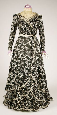 Afternoon Dress 1900, American, Made of silk