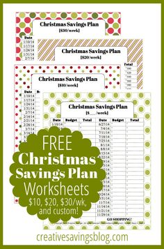 Did last Christmas completely ruin your budget? These FREE worksheets will help prepare you for next year!