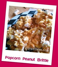 Popcorn Peanut Brittle - made in the microwave! <3