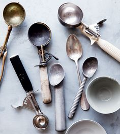 ice cream, cream scoop, kitchen tool, thing delici