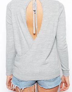 ASOS Sweater With Tie Drape Back