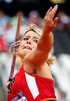 United States' Brittany Borman takes a throw in the women's javelin qualification round Tuesday, Aug. 7,2012