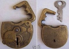 Image detail for -Vintage Antique F-S Hdw Co Brass Padlock Lock