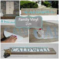 Personalized Family Name Vinyl {www.homemadeinterest.com}