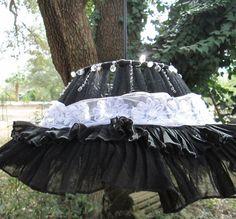 feminine black lamp shade pendant lighting by AdaptationsStudio, $80.00